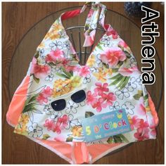 Athena - Floral Tankini Swim Top Worn once. In perfect condition, pair with your favorite bottoms! Top only Athena Swim Bikinis