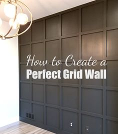 Tutorial for Creating a Perfect Grid Wall, Home Decor, Want to install a grid wall in your home? Grid walls take a little planning and require some basic math, but the installation part is actually quite e. Home Renovation, Home Remodeling, Bedroom Wall, Bedroom Decor, Wall Decor, Bedroom Ideas, Gray Bedroom, Bedroom Lighting, Master Bedrooms