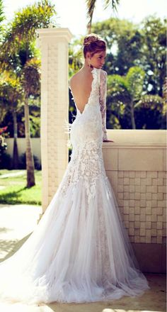 Low back #wedding dress
