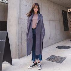 #envylook Side Slit Loose Fit Coat #koreanfashion #koreanstyle #kfashion #kstyle #stylish #fashionista #fashioninspo #fashioninspiration #inspirations #ootd #streetfashion #streetstyle #fashion #trend #style