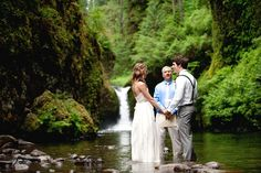 {Alley + Stephen} Wedding Punch Bowl Falls – Columbia River Gorge National Scenic Area, Oregon  | Portland, OR Wedding Photographer