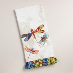 Whenever our family is having a good time at Ocean Point or anywhere, it never fails we always see a dragonfly.... they have become a symbol of our family...  these towels pull in the blues and accent reds of our cottage kitchen.  #LGlimitlessDesign #Contest
