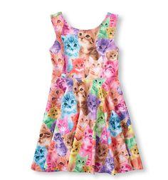 Children's Place Cat Print Dress ☑