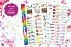 Back to School Planner Stickers! (BS153ab) For your Erin Condren, Limelife, Happy Planner, Inkwell Press, or other planner or calendar by 3LBstudio on Etsy https://www.etsy.com/listing/464743385/back-to-school-planner-stickers-bs153ab