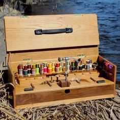 Winner of the 2016 IFTD Best in Show Award for Fly Tying Materials & Equipment, The Go Box is an innovative, portable work station for fly tyers. It is designed for the tyer who does not have room for a full sized tying desk at home or who wants to take his tying materials 'on the go'. It is finely crafted of hardwood with dovetail construction and a furniture quality finish, which is equally at home in the study or streamside. Custom built to order in your choice of three pri...