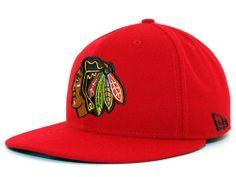 Chicago Blackhawks NHL Basic Red Cap by New Era | Sports World Chicago $34.95
