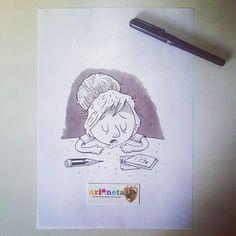 El #inktober de hoy. Buenas noches. #inktober2014 Inktober, Instagram Posts, Art, Good Night, Art Background, Kunst, Performing Arts, Art Education Resources, Artworks