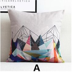 Abstract geometric throw pillow for couch 18 inch square cushions