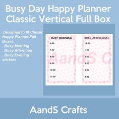 Busy Day Stickers for MAMBI Happy Planner Classic Vertical