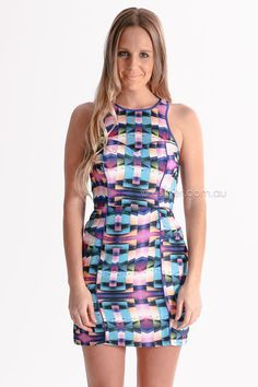 seduce beach house dress - blue/purple $169.95 AUD - free world wide shipping