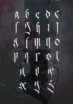 Gothic alphabet based on Fraktur.