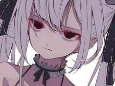 Kawaii Anime Girl, Anime Art Girl, Manga Art, Cute Anime Character, Character Art, Gothic Anime, Anime Sketch, Dark Anime, Animes Wallpapers