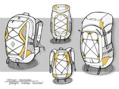 Design Sketch Backpack Fashion Illustrations Ideas For 2019 Backpack Drawing, Drawing Bag, Book Cover Design, Book Design, Design Art, Pinterest Design, Industrial Design Sketch, Sketch Inspiration, Cool Sketches