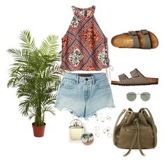 """""""10.07.16"""" by caglatersak on Polyvore featuring moda, Nearly Natural, Chloé, T By Alexander Wang, Birkenstock, Jérôme Dreyfuss, J.Crew ve Urban Decay"""