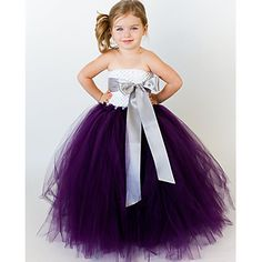 Ball+Gown+Ankle-length+Flower+Girl+Dress+-+Tulle+/+Polyester+Sleeveless+–+USD+$+59.99
