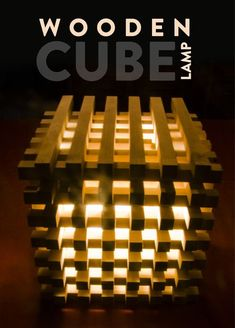 Wooden Cube Lamp