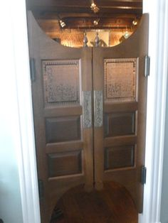 Saloon Doors - to separate mudroom hall from kitchen? If lower to floor it would work for cat access to litter boxes.