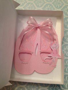 ballerina slippers invitations \ ballet invitations