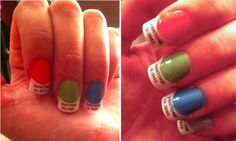 Pantone Chip Nails Are Geekily Adorable...word! :)