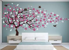 I FREAKIN LOVE THIS COLOR COMBO AND WALL DECOR!!!!!!! Plus, hey hey Murphy bed! :)