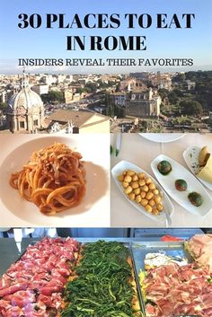 Looking for the best places to eat in Rome, Italy? We reached out to Rome insiders and asked them to reveal their favorites. #ItalyVacation