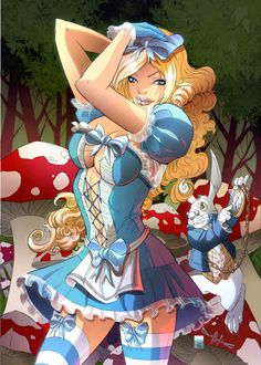 Alice in wonder land, possible tattoo - but altered to be more tasteful.