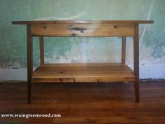 Shaker made from Reclaimed Wood out of the Historic Charleston SC #Shaker #reclaimed #heartofpine #reclaimed table
