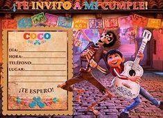 Invitación de cumpleaños de Coco de Disney · Pixar gratis