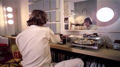 A stunning Mitchell 'Transcriptor' Turntable in Alex's room in A Clockwork Orange. Visit http://www.filmandfurniture.com/ to find out where to get one! #StanleyKubrick #interiordesign