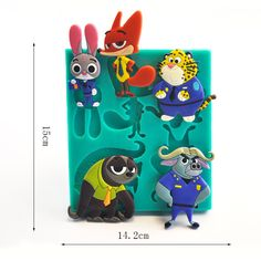 Free Shipping (14 to 35 Days) Zootopia Cake Decoration Tools Silicone Mold Baking / Chocolate Tools (Free Shipping - 15 to 34 Days ) Silicone Size:15*14.2*1.4cm