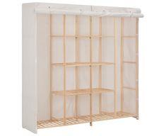 Wardrobe White 173x40x170cm Fabric Storage Cabinet Clothes Organiser Folding Wardrobe, Open Wardrobe, Wardrobe Drawers, Wardrobe Cabinets, Cupboard Wardrobe, 4 Door Wardrobe, Cube Shelves, Closet Shelves, Cube Storage