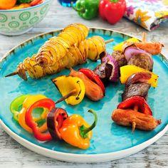 Kleurrijke spiesen en aardappeltwisters #WeightWatchers #WWrecept #Airfryer