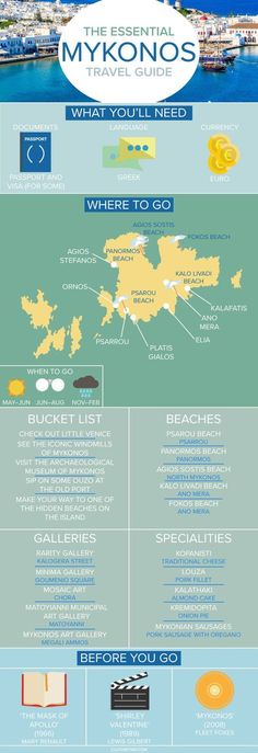 The Essential Travel Guide to Mykonos (Infographic)|Pinterest: @theculturetrip