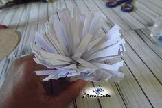 Flores gigantes de papel como fazer