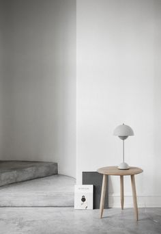 Polished concrete flooring with wood