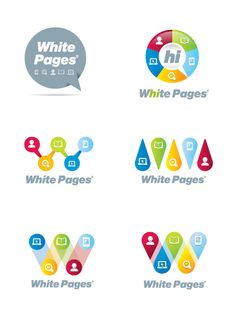 White Pages by Josip Kelava, via Behance    Branding that uses topics/sections of company as elements in logo
