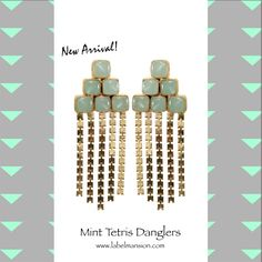 For those who know nothing, but to make a statement! :) Shop the 'oh soooo cool' new arrival - Mint Tetris Danglers at http://www.labelmansion.com/hyp-16-6.html #labelmansion #jewellery #whatsnew #earrings #mint #tetris #fun #cool #statement #love #ootd #ootn #stylists #bloggers #women #checkout #shoponline #india