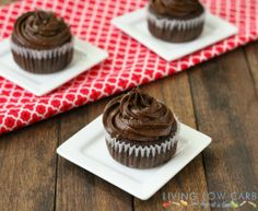 Chocolate Cupcakes with Coconut Cream Filling (Low Carb and Paleo Friendly)