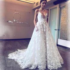 2017 Spaghetti Straps Lace Appliques Sexy Pretty Fashion New Prom Dress, PD0378