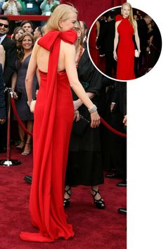 The best red carpet dresses from the back: Nicole Kidman in Balenciaga at the 2007 Academy Awards.