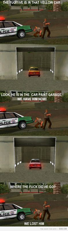 GTA - Too funny, the logic of cops on GTA...but then again, since when do video games have to be logical?