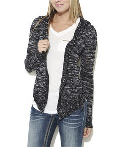 Hooded Slub Cardigan