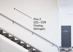 (via Brobygrafiska — The Studio) · Dark Side of Typography: Signage Board, Park Signage, Directional Signage, Office Signage, Wayfinding Signs, Signage Display, Signage Design, Branding Design, Environmental Graphics