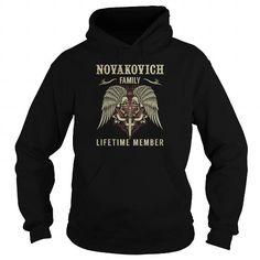 NOVAKOVICH Family Lifetime Member - Last Name, Surname TShirts