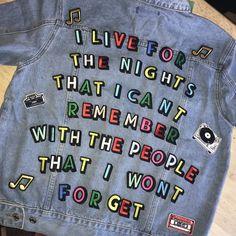 560cb23423 Custom made personalised denim jacket with drake lyrics drake song sick  jacket cool fashion unique style