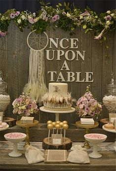 Photo 2 Of Rustic, Bohemian Chic Dessert Table Wedding Confetti Fair Catch My Party Chic Wedding, Wedding Table, Rustic Wedding, Our Wedding, Dream Wedding, Wedding Ideas, Trendy Wedding, Wedding Vintage, Reception Table