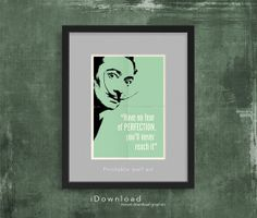 Printable wall art with SALVADOR DALI quote instant by iDownload, €4.35