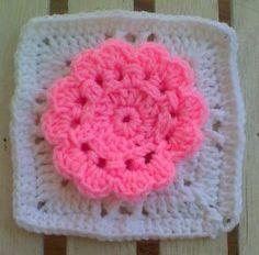 Flower Love In 3D Square | AllFreeCrochetAfghanPatterns.com