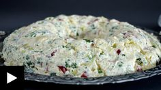ΠΟΛΥΧΡΩΜΗ ΓΙΟΡΤΙΝΗ ΠΑΤΑΤΟΣΑΛΑΤΑ Appetizer Salads, Finger Food Appetizers, Finger Foods, Appetizer Recipes, Salad Recipes, Christmas Cake Pops, Greek Cooking, Lemon Curd, Appetisers