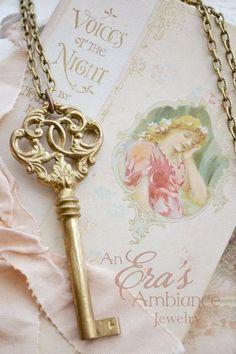 Brass Jewelry Key
